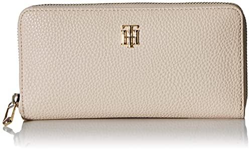 Tommy Hilfiger Damen TH Soft Large ZA Wallet Reisezubehr-Reisebrieftasche, beige, Einheitsgröße