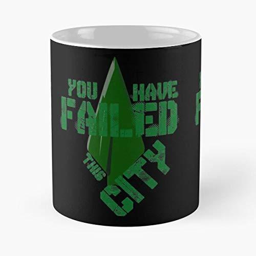 Felicity Green Arrow Stephen Amell Smoak Oliver Ollie Best Taza de café de cerámica de 315 ml con texto en inglés 'Eat Food Bite John Best Taza de café de cerámica de 325 ml