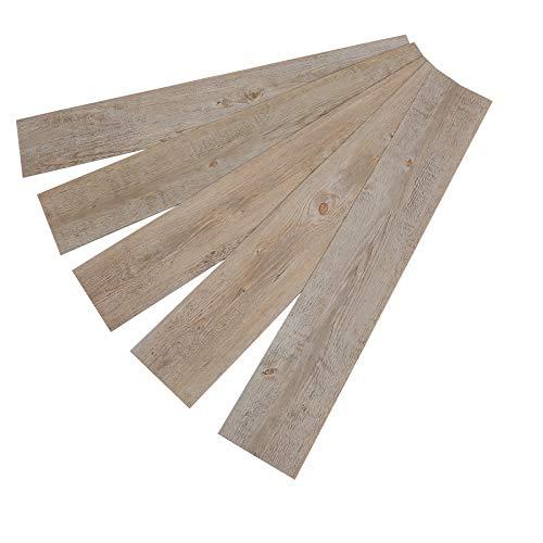16PCS Adhesive Vinyl Wood Planks Peel and Stick Floor Tile Laminate Flooring Floor Stickers for Home Improvement (Wood)
