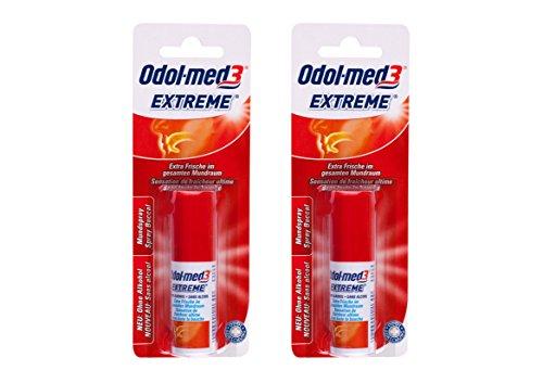 2x ODOL MED 3 Extreme Mundspray extra Frische, ohne Alkohol 15 ml PZN: 01744903