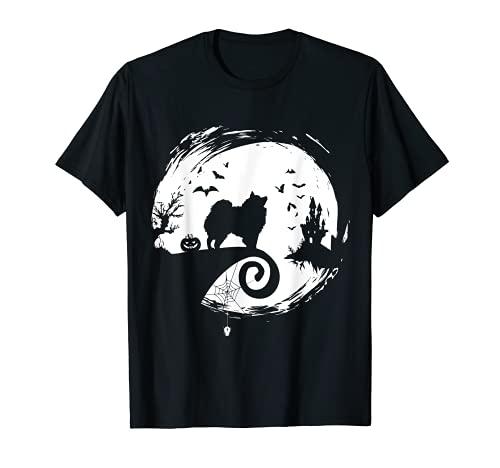 Disfraz de esquimal americano de Halloween Eskie Moon Silhouette Camiseta