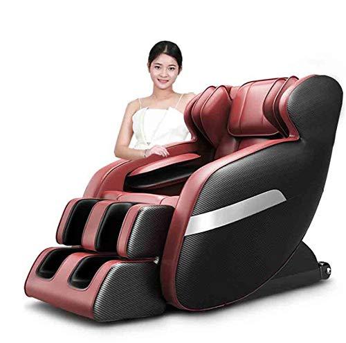 CSPFAIZA Massagesessel Intelligent Elektrisches Sofa mit Wärmefunktion und LCD-Smart-Fernbedienung, Schwerelosigkeit, Intelligent Sessel Braun