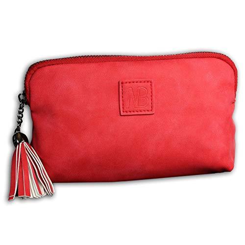 New Bags OTD5031R - Riñonera (Piel sintética, 13 x 20 x 1,5 cm), Color Rojo