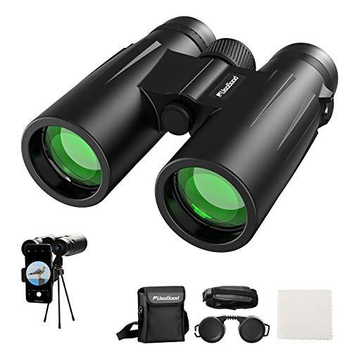 Binoculars for Adults Bird Watching usogood 12x50 High Power Binoculars for Stargazing, Traveling, Hunting and Hiking Binoculars with Tripod Phone Adaptor for Photography - BaK-4 Prisms, FMC Lens