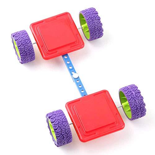 aleto Ruedas magnéticas para bloques magnéticos, edificios, baldosas, bases, ruedas, multiusos, juguetes magnéticos, ruedas
