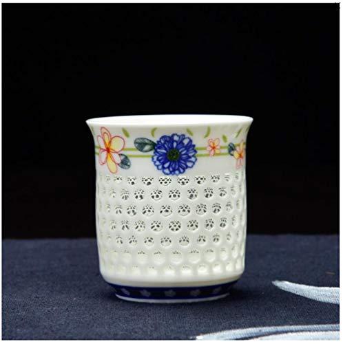 Tazasdecafétazasdedesayunotazasdecafé Jarra De Cerveza Con Forma De Panal De Porcelana Azul Y Blanca, De Cerámica, Azul Y Blanca
