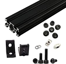 Free fast shipping, 1set Black AM8 3D Printer Aluminum Extrusion Metal Frame Full Set with Nuts Screw Bracket Corner for Anet A8-144