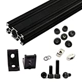 1set Black AM8 3D Printer Aluminum Extrusion Metal Frame Full Set with Nuts Screw Bracket Corner for Anet A8-144
