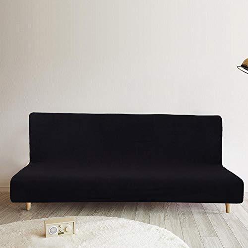 presentimer – Funda Impermeable de Forro Polar Grueso para sofá o sofá, de poliéster de Color sólido, Funda elástica para futón sin Brazos, Funda para sofá Cama, Protector para sofá Cama sin Brazos