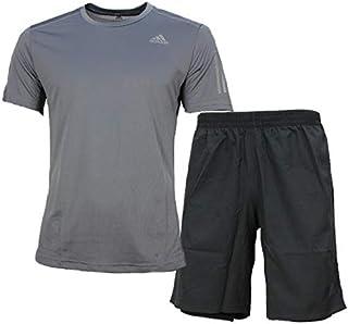 4187a896e1d15f アディダス ジャージ 上下 メンズ トレーニングウェア Tシャツ 半袖 + ハーフ FWB26 FRO66 7カラー ランニング