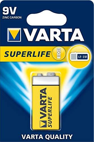 Varta 10X 42338 Superlife 6F22/9V Block (2022) - Zinkchlorid Batterie, 9 V