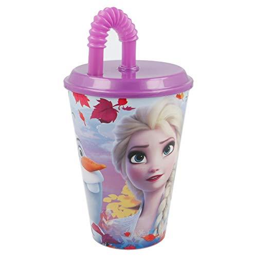 ALMACENESADAN 2067, Vaso Looping Disney Frozen Irisdescent Aqua; Vaso con caña; Capacidad...