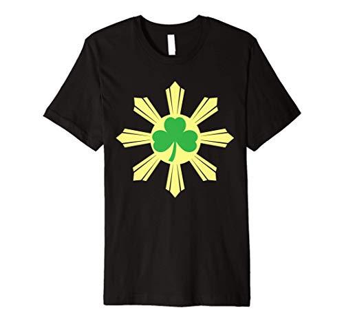 St. Patricks Day Shamrock Irish Ireland Filipino Flag Premium T-Shirt