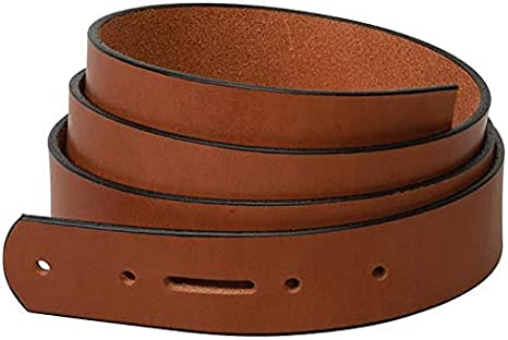 Weaver Leather Water Buffalo Wide Belt Blank with Snap Holes /& Black Edge Paint