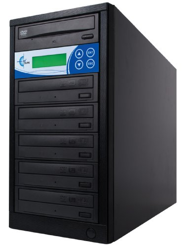 EZ Dupe DiskLock 5 Target DVD/CD Duplicator Optical disc duplicator Schwarz - Brenner (24x, 4X, 24x, 4X, 8X, 6X)