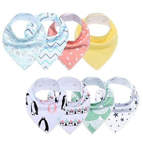 13 peas baby slabbetjes 8 stuks absorberend instelbaar bloemen bedrukt bandana baby-accessoire voor kleine jongen kinderen babykleding