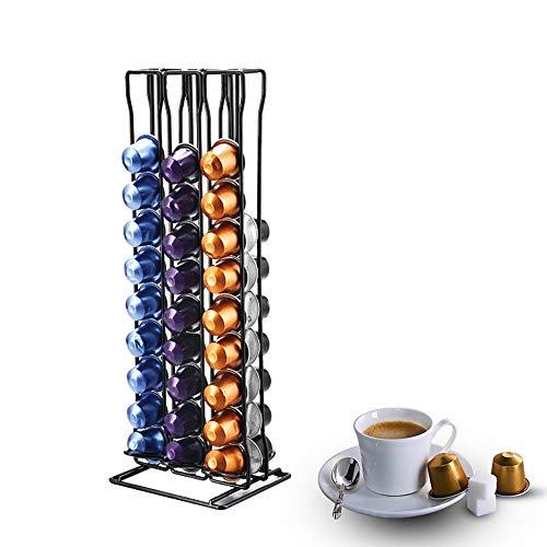 Distributeur Café Capsule pour 60 Pièces Nespresso Cafe Capsules, Porte Capsules Support Stockage Café Dosette Nespresso Original, Coffee Capsule Stand Pod Holder pour Bureau Cuisine