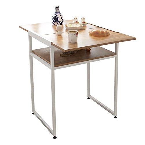 Table pliante réglable Table carrée Se Pliante/Table dinante extérieure/Table d'ordinateur Portable/Table de Stockage à la Maison Peut être tourné (Couleur : A)