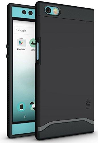 TUDIA Nextbit Robin Hülle, Slim-Fit Merge Dual Layer Schutzhülle für Nextbit Robin (Matte Black)