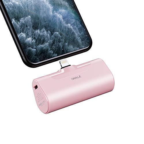 iWALK Power Bank 4500mAh, klein Tragbares Powerbank Tragbar und Kompakte Handy Ladegerät Mini Externer Akku Kompatibel mit iPhone 11, iPhone 11 Pro, XS, XR, X, 8, 8 Plus, 7, 6 6S