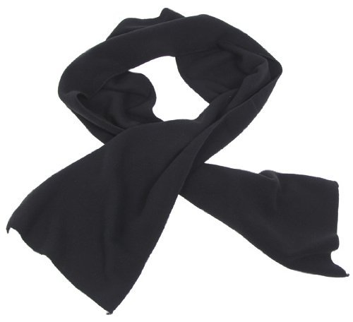 EStores écharpe en polaire noir 160 x 25 cm
