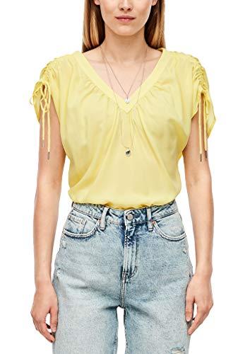 Q/S designed by Kurzarm Bluse Camicia da Donna, Giallo (1195 Sorbetto al Limone), 38