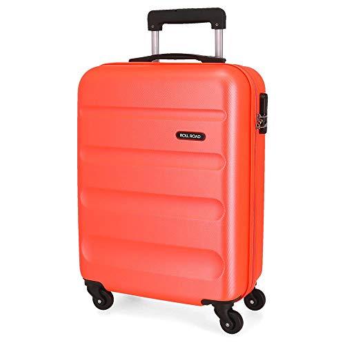 Roll Road Flex Maleta de cabina Naranja 38x54x20 cms Rígida ABS Cierre combinación 35L 2,5Kgs 4 Ruedas Equipaje de Mano
