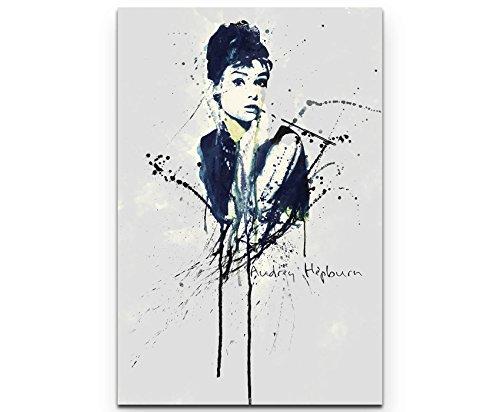 Paul Sinus Art Audrey Hepburn 90x60cm auf Leinwand gespannt fertig zum aufhängen