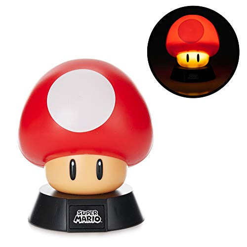 Nintendo Mushroom 3D Mini Light, Rosso,
