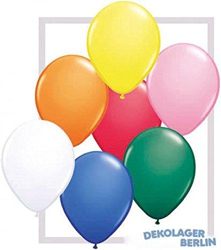 Grosse Luftballons Ballons bunt 30cm Durchmesser heliumgeeignet Größe 100 Stück
