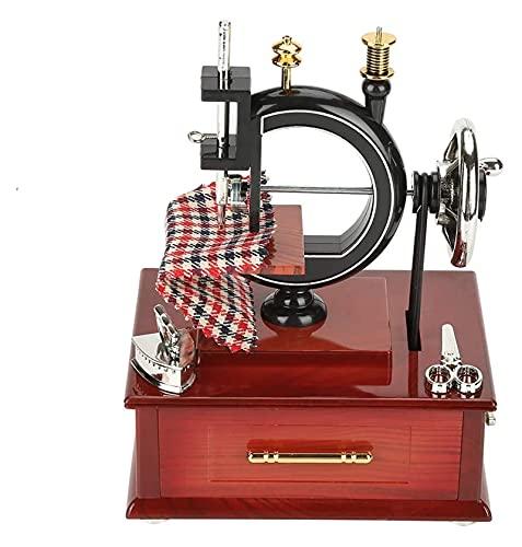 Beapet Máquina de Coser Vintage Caja de música Estilo Retro Caja de música Caja de música Caja de Mesa de Mesa Decoración Regalo de Juguete para niños niños