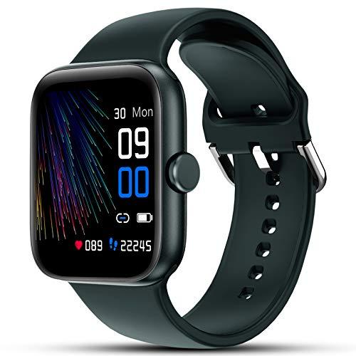 LIFEBEE Smartwatch, Fitness Armband IP68 Wasserdicht Fitnessuhr Sportuhr Schrittzähler Schlafmonitor Anruf SMS Beachten Armbanduhr Damen Herren Pulsuhren Stoppuhr Smart Watch Uhr für Android iOS