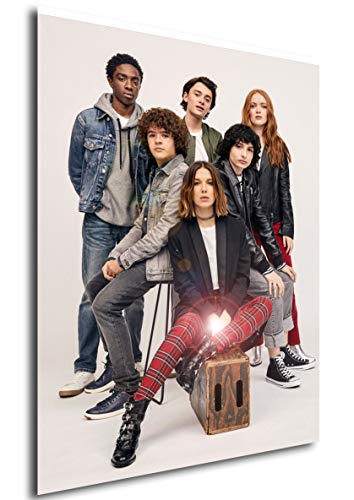 Instabuy Poster - Serie TV - Stranger Things - Cast Characters Manifesto 70x50