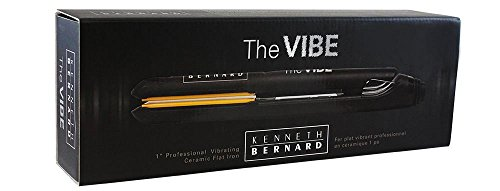 Kenneth Bernard Vibe Flat Iron - 1 Inch Professional Vibrating Ceramic Hair Straightener with Digital Heat Control