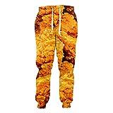 Pollo Frito Joggers de Moda Pantalones de chándal Estampados en 3D Pantalones de Hip-Hop Pantalones Fried Chicken S