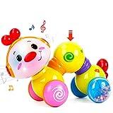 CubicFun Giochi per Bambini 1 Anno Press & Go Bruco Musicale con Luce Flash Giocattoli Striscianti Educativi Regalo Giochi Neonato 6 7 8 9 10 12 Mesi e più