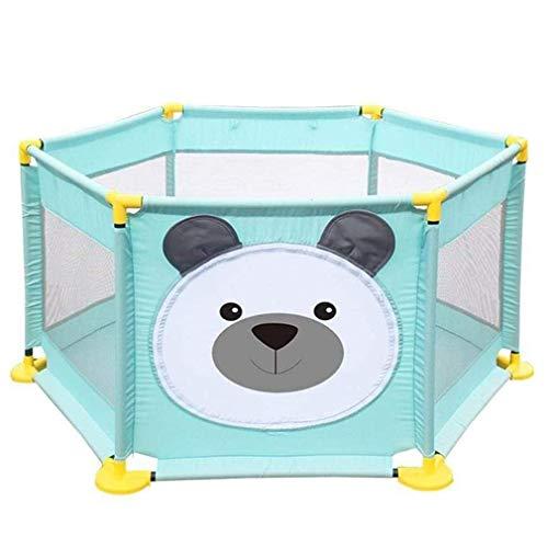 LUNAH Cerca de Seguridad para corralito para bebés corralito fácil de Montar para niños pequeños con Malla Transpirable Cerca para bebé recién Nacido corralito para Juegos en Interiores y Exterior