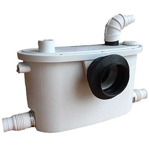 Macerator - Bomba sanitaria 4 en 1 para inodoro, fregadero, ducha, 400 W