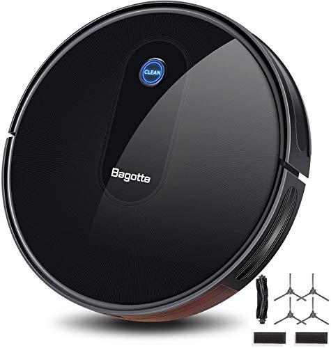 Aspirateur Robot, Bagotte BG600 aspirateur robot laveur 1600 Pa Succion, 6,9 cm Super Slim pour le nettoyage du pollen, des poils d'animaux, des tapis, des sols durs. [Classe énergétique
