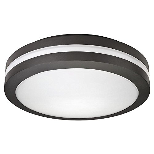 Lithonia Lighting Cast OLCFM 15 DDB Ceiling Flush Mount Outdoor LED Decorative Light Fixture for Porch, Patio, Garage, Sidewalk, and Walkway Black Bronze, Pack of 1