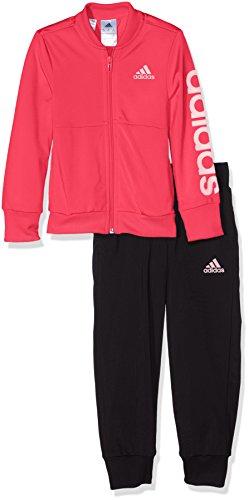 adidas YG PES TS Trainingsanzug für Mädchen, Rosa (Rosbas), 164