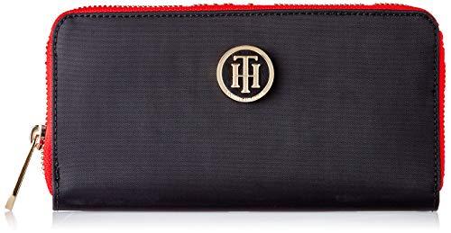 Tommy Hilfiger Poppy LRG ZA Wallet, Portafoglio Donna, Nero (Black), 11.5x24x31 cm (W x H x L)