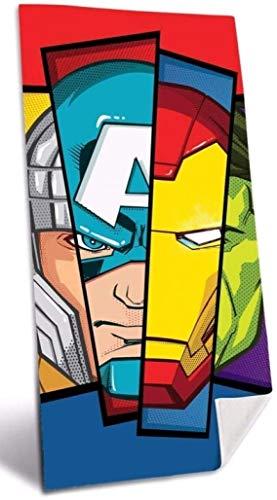 Avengers algodón Referencia KD Playa lavarse la Cara-Toallas Textiles del hogar Unisex Adulto, Multicolor (Multicolor), única