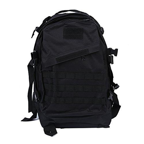 SNOWINSPRING Military Backpack backpack camping trip Hiking bag 40L Black