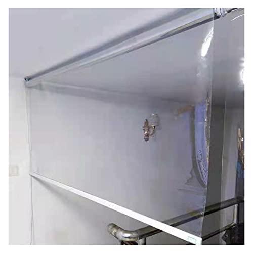 RZEMIN Cortina Enrollable Transparente, Cortinas Transparentes PVC Para Particiones Al Aire Libre, Persianas Enrollables Prueba Viento Impermeables Pérgola Porche (Color : Claro, Size : 90cmx150cm)