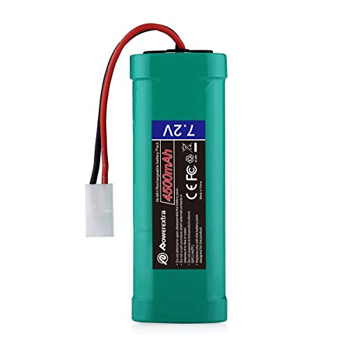 Powerextra 7.2V 4500mAh High Capacity Rechargeable 6-Cell NiMH Battery Pack Low-self Discharge with Standard Tamiya Connectors Compatiable RC Cars, RC Truck, RC Airplane, RC Helicopter, RC Boat