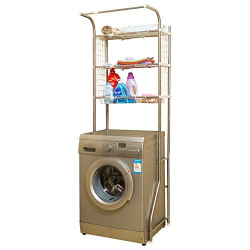 Foern Toilettenregal 3-Tier Einstellbar Multifunktional WC-Regal Badezimmer Regal Waschmaschinenregal