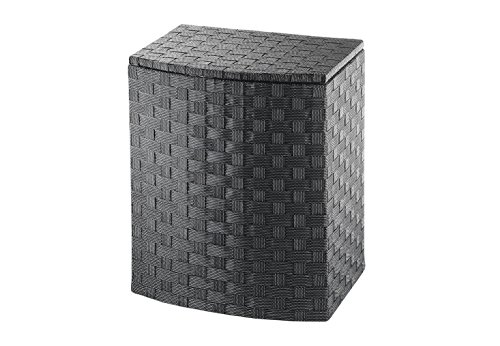 Kobolo Praktischer Wäschebehälter aus geflochtenem Nylon mit Deckel