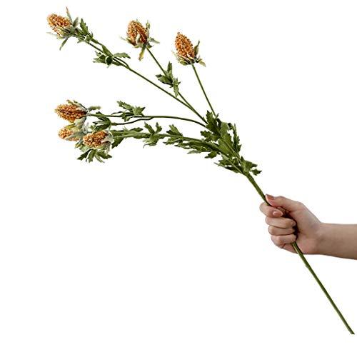 Ramo de flores falsas TXC de cardo de imitacion para decoracion de sala de estar, mesa de comedor, arreglos florales, decoracion de colores brillantes