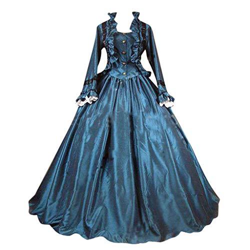 SALUCIA Damen Mittelalter Gothic Kostüm Elegant Retro Kleider Gewand Viktorianisches Renaissance Prinzessin Barock Rokoko Kleidung SA221